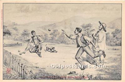 spo032273 - Old Vintage Lawn Bowling Postcard Post Card
