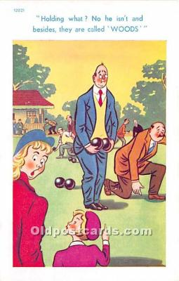 spo032292 - Old Vintage Lawn Bowling Postcard Post Card
