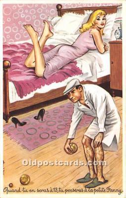 spo032299 - Old Vintage Lawn Bowling Postcard Post Card