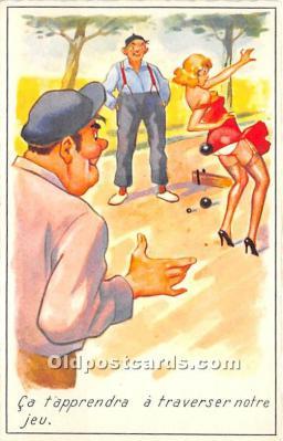 spo032300 - Old Vintage Lawn Bowling Postcard Post Card