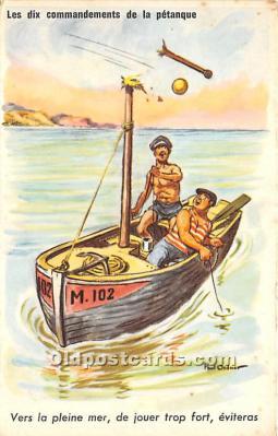 spo032304 - Old Vintage Lawn Bowling Postcard Post Card