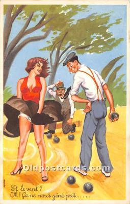 spo032306 - Old Vintage Lawn Bowling Postcard Post Card