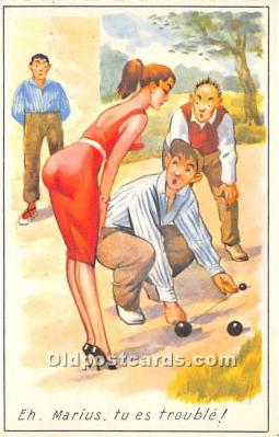 spo032307 - Old Vintage Lawn Bowling Postcard Post Card