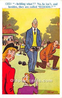 spo032312 - Old Vintage Lawn Bowling Postcard Post Card