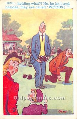 spo032313 - Old Vintage Lawn Bowling Postcard Post Card