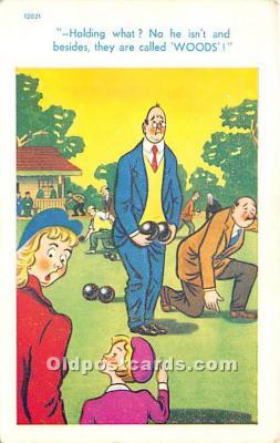 spo032314 - Old Vintage Lawn Bowling Postcard Post Card