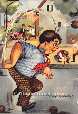 spo032322 - Old Vintage Lawn Bowling Postcard Post Card