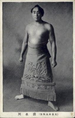 spo034103 - Sumo Wrestling Postcards Old Vintage Antique Post Card