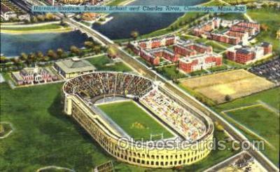 spo036022 - Harvard Stadium, Business School and Charles River, Cambridge, Mass. USA, Foot Ball, Football, Stadium, Stadiums, Postcard Postcards