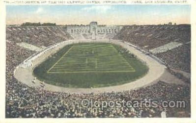 spo036052 - Exposition Park, Los Angeles, CA, USA Foot Ball,  Football Stadium Postcard Postcards