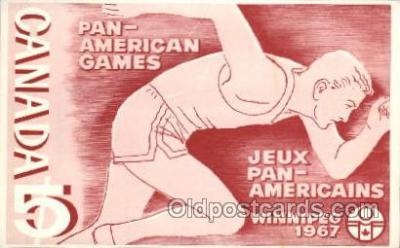 spo043032 - Pan-American Games 1967 Track & Field Postcard Postcards