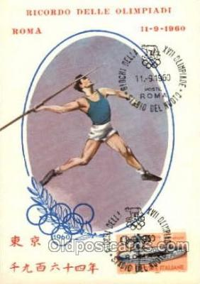 spo044006 - Olympic XVII Rome Itally, 1960 Postcard Postcards