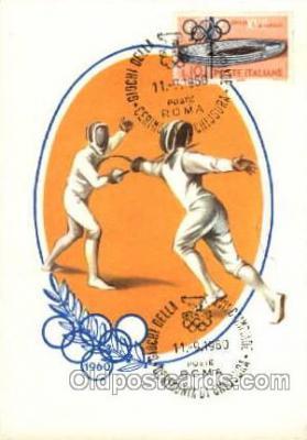 spo044022 - Olympic XVII Rome Itally, 1960 Postcard Postcards