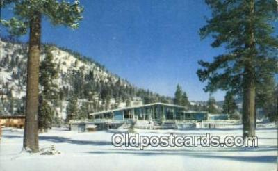 spo044044 - Squaw Valley Lodge, Lake Tahoe, California, CA USA Olympic Sports Postcard Post Card Old Vintage Antique