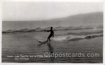 spo045107 - Les Sports sur la Cote d'Azur, Water Skiing Postcard Postcards