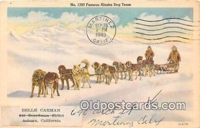 No 1393 Famous Alaska Dog Team