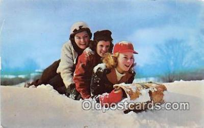 Three Girls & A Toboggan