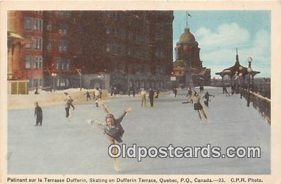 Skating on Dufferin Terrace