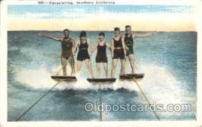spo050030 - Aquaplaning, Southern, California, USA Misc. Sports Postcard Postcards