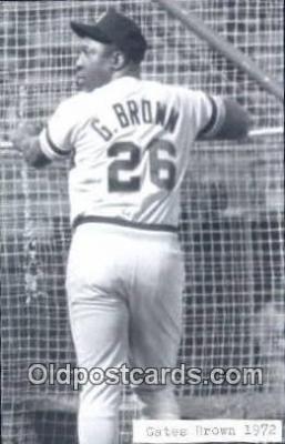 spo070042 - Gates Brown Baseball Postcard Detroit Tigers Base Ball Postcard Post Card