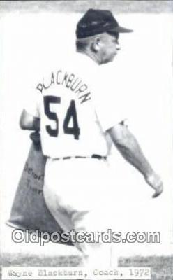 spo070056 - Wayne Blackburn Baseball Postcard Detroit Tigers Base Ball Postcard Post Card