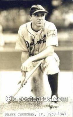 spo070154 - Frank Croucher Baseball Postcard Detroit Tigers Base Ball Postcard Post Card