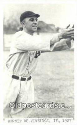 spo070157 - Bernie De Viveiros Baseball Postcard Detroit Tigers Base Ball Postcard Post Card