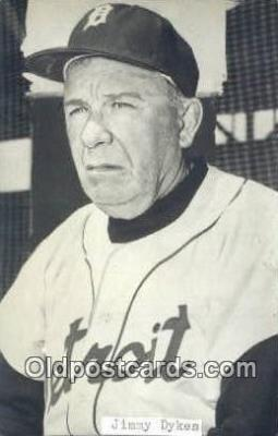 spo070172 - Jimmy Dykes Baseball Postcard Detroit Tigers Base Ball Postcard Post Card