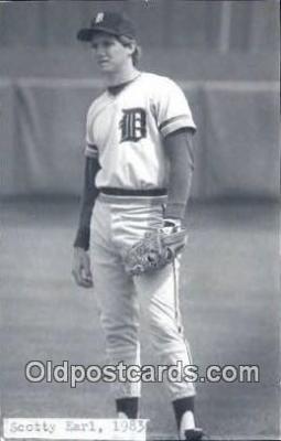 spo070175 - Scotty Earl Baseball Postcard Detroit Tigers Base Ball Postcard Post Card