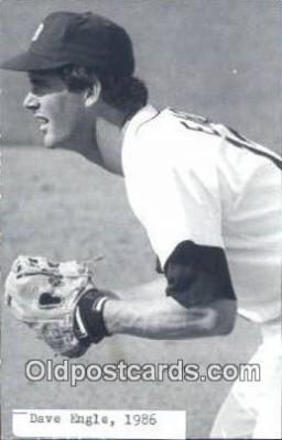 spo070177 - Dave Engle Baseball Postcard Detroit Tigers Base Ball Postcard Post Card