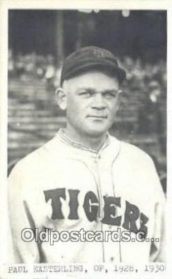 spo070184 - Paul Easterling Baseball Postcard Detroit Tigers Base Ball Postcard Post Card