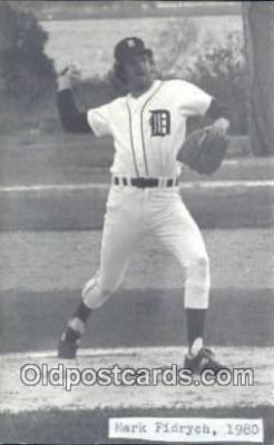 spo070185 - Mark Fidrych Baseball Non Postcard Detroit Tigers Base Ball Postcard Post Card
