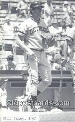spo070190 - Bill Fahey Baseball Non Postcard Detroit Tigers Base Ball Postcard Post Card