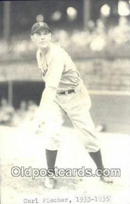 spo070193 - Carl Fischer Baseball Postcard Detroit Tigers Base Ball Postcard Post Card