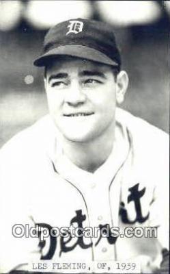 spo070199 - Les Fleming Baseball Postcard Detroit Tigers Base Ball Postcard Post Card
