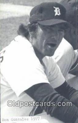 spo070227 - Dan Gonzalas Baseball Non Postcard Detroit Tigers Base Ball Postcard Post Card