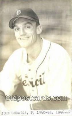 spo070228 - John Gorsica Base Ball Postcard Detroit Tigers Baseball Postcard Post Card