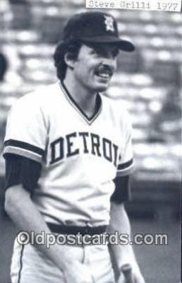 spo070238 - Steve Grilli Base Ball Postcard Detroit Tigers Baseball Postcard Post Card