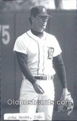 spo070248 - John Grubb Base Ball Postcard Detroit Tigers Baseball Postcard Post Card