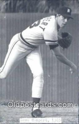 spo070252 - Dave Gumpert Base Ball Postcard Detroit Tigers Baseball Postcard Post Card