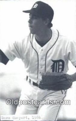 spo070253 - Dave Gumpert Base Ball Postcard Detroit Tigers Baseball Postcard Post Card