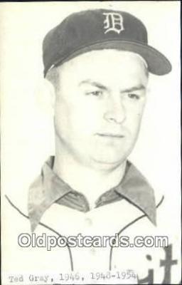 spo070259 - Ted Gray Base Ball Postcard Detroit Tigers Baseball Postcard Post Card