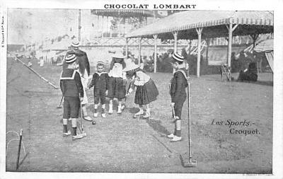 spoA008004 - Chocolate Lombart Advertising, Croquet Carte Postale Postcard