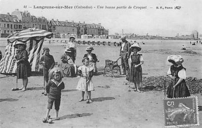 spoA008006 - Langrune Sur Mer Calvados, Croquet Postcard Carte Postale