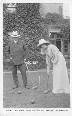 spoA008025 - Mr. Oscar Asche and Miss Lily Brayton, Croquet Postcard