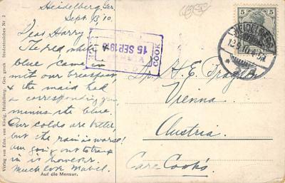 spof011045 - Auf die Mensure Fencing Postcard  back