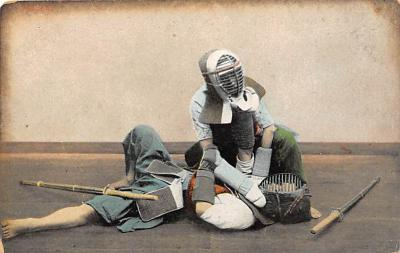 spof011023 - Fencing, Fence, Old Vintage Antique Postcard Post Cards
