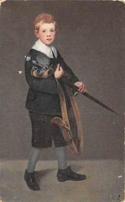 spof011029 - Edouard Manet, Boy with Sword Fencing Postcard