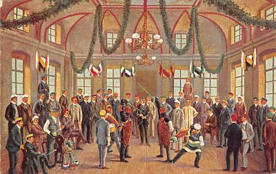 spof011041 - Heidelberg, Mensur auf der Hirschgasse Fencing Postcard