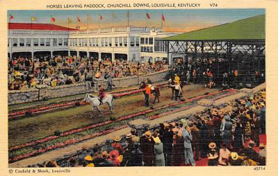 spof021752 - Louisville, KY, USA Churchill Downs Horse Racing Postcard